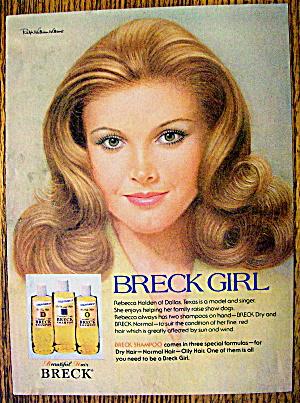 1977 Breck Shampoo with Rebecca Holden (Singer/Model) (Image1)