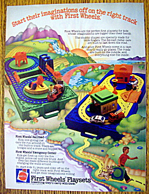 1982 Mattel Toys With First Wheels Playsets