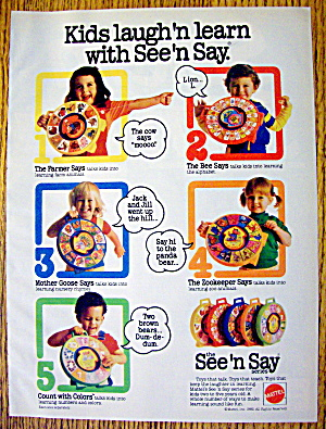 1982 Mattel Toys With The See & Say Series