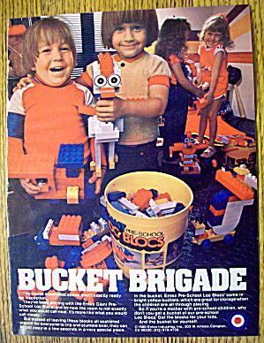 1983 Entex Loc Blocs with Children & Bucket Of Blocks (Image1)