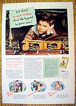 1936 Cream Of Wheat Cereal With Boy Day Dreaming