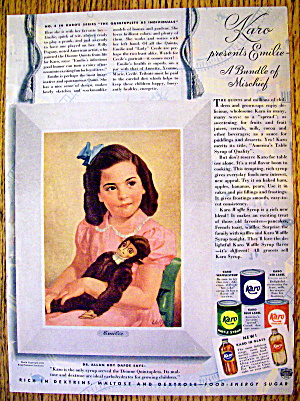 1941 Karo Syrup with Emilie Dionne (The Quints) (Image1)