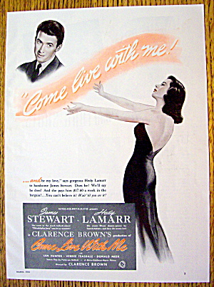 1941 Come Live With Me With James Stewart & Hedy Lamarr
