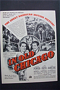 1938 In Old Chicago With Tyrone Power