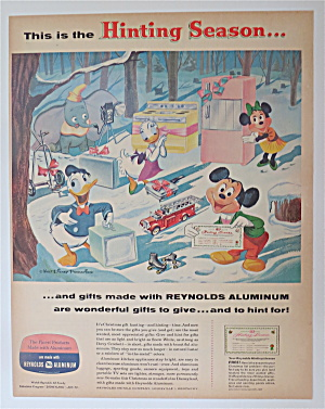 1957 Reynolds Aluminum With Mickey & Friends