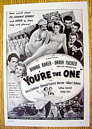 1941 You're The One with Bonnie Baker & Orrin Tucker (Image1)