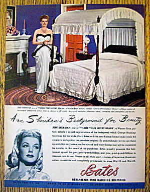 1944 Bates Bedspreads With Ann Sheridan