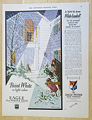 1926 Eagle Pure White Lead Paint with House in Winter  (Image1)