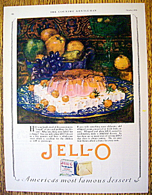 1926 Jell-o With Jell-o Mold