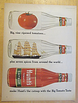 1965 Hunt's Catsup with 3 Catsup Jars  (Image1)