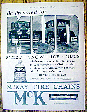 1926 McKay Tire Chains with 2 Cars (Image1)