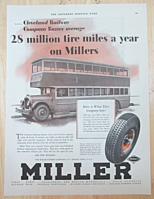 1929 Miller Tires With Double Decker Bus