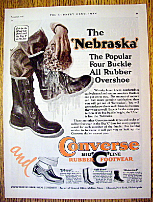 1926 Converse With The Nebraska Rubber Shoe