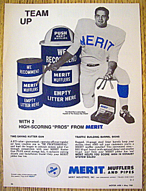 1968 Merit Muffler With Jerry Mays (Kansas City Chiefs)