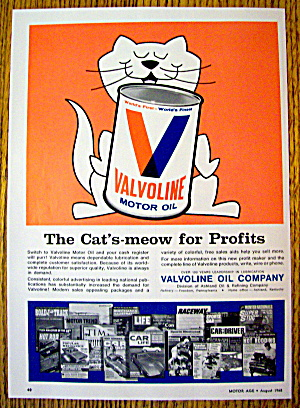 1968 Valvoline Motor Oil with Cat's Meow (Image1)