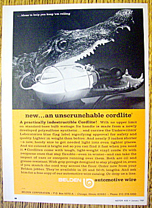 1969 Beldon Cordlite With Alligator With Light In Mouth
