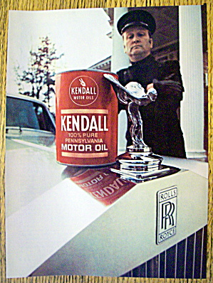 1969 Kendall Motor Oil With Chauffeur Holding Can
