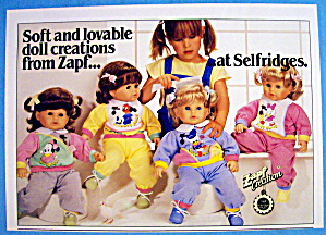 1986 Zapf Dolls With Little Girl And 4 Dolls
