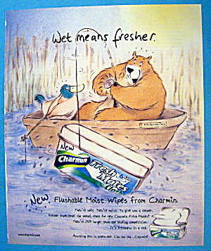 2002 Charmin Tissue With Bear Fishing In Boat