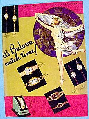 1936 Bulova Watch with Lovely Woman (Image1)