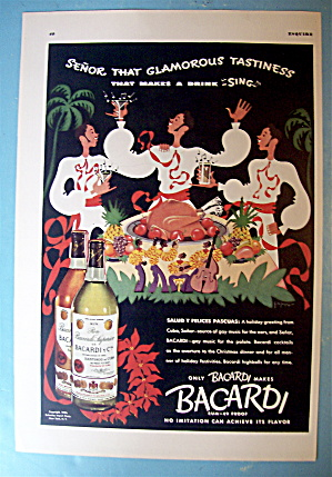 1936 Bacardi With Salud Y Felices Pascuas