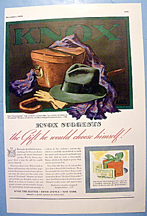 1936 Knox Hats With Cragsmoor And Foxbrush