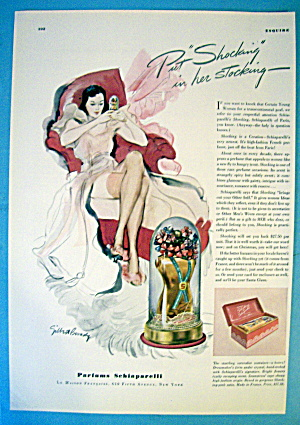 1937 Schiaparelli Perfume with lovely woman (Image1)