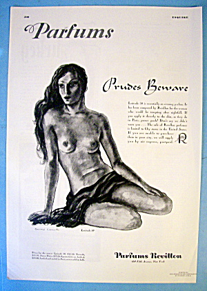 1937 Revillon Perfume with woman by Lamotte (Image1)
