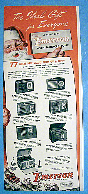 1940 Emerson Radios With Patriot And More