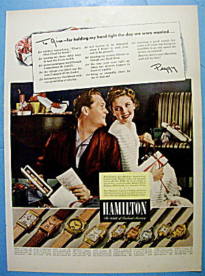 1940 Hamilton Watch With Couple Opening Gifts