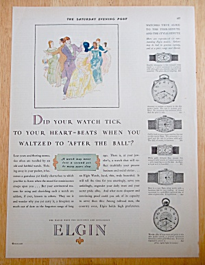 1927 Elgin Watches With People Waltzing