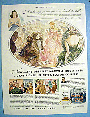1941 Maxwell House Coffee With L'allegro Club Ball