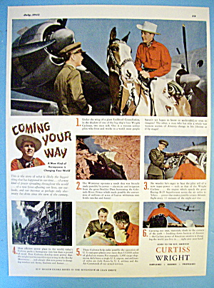 1945 Curtiss Wright With Cowboy And Soldier