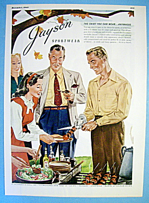1945 Jayson Sportswear with People Grilling (Image1)