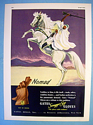 1945 Gates Nomad Gloves with Arabian Man On Horse (Image1)
