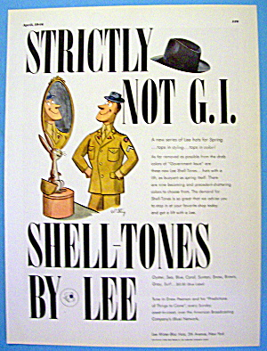 1946 Lee Hats With Shell Tone Hats