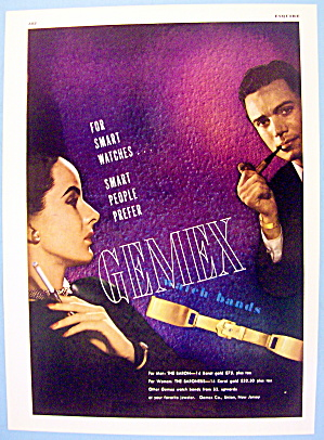1946 Gemex Watch Bands With Baron And Baroness