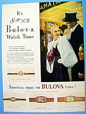 1946 Bulova Watch With Lovely Woman