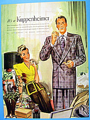 1946 Kuppenheimer with Woman Looking At A Man (Image1)