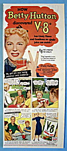 Vintage Ad: 1952 V 8 Vegetable Juice With Betty Hutton