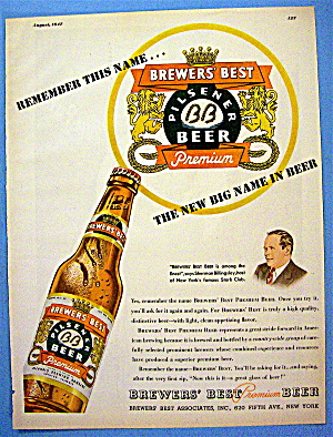 1947 Brewer's Beer with Bottle of Beer (Image1)