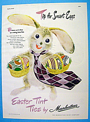 1947 Manhattan Tint Ties With Easter Bunny