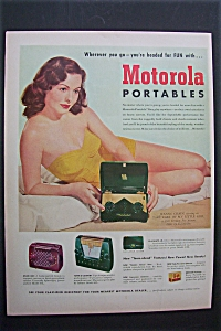 1951 Motorola Portable Radio with Jeanne Crain (Image1)