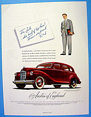 1948 Austin Of England With 4 Door Devon Sedan