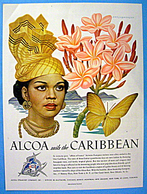 1948 Alcoa Caribbean with Lovely Woman By Artzybasheff (Image1)