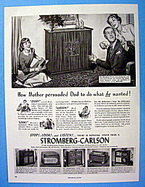 1948 Stromberg Carlson With Family With The Mandarin