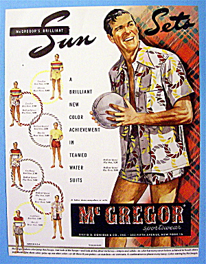 1948 Mc Gregor Sun Sets with Man Holding A Ball (Image1)