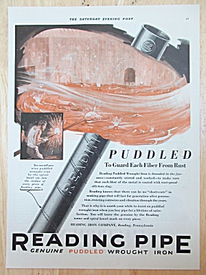 1929 Reading Pipe with Puddled Wrought Iron Pipe  (Image1)