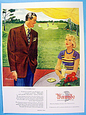 1949 Worumbo Fabric with Man and Woman Talking (Image1)