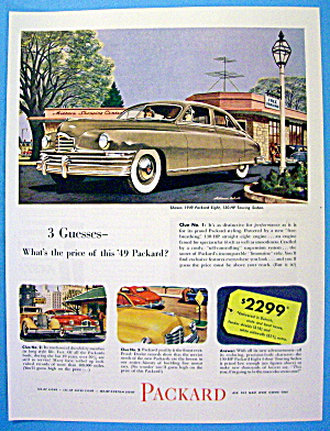 1949 Packard With Packard Eight Touring Sedan